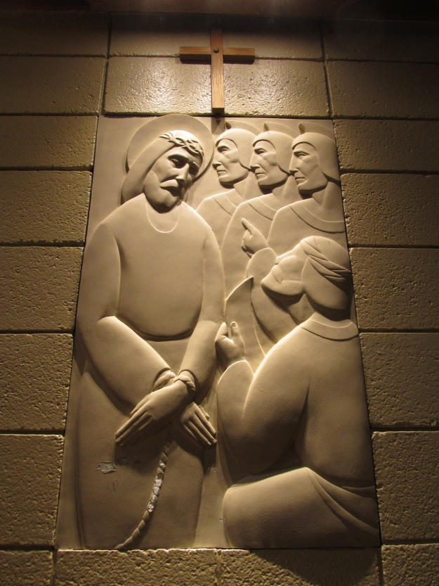 The First Station: Jesus is condemned to death.