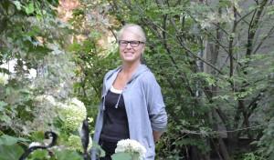 The gardener, Lydia Butera.