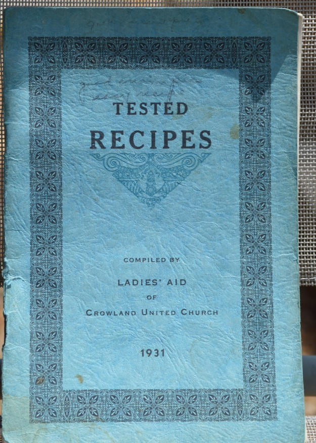 Cover of a local church group's collection of recipes, some well known, some not so. (All photos by Joe Barkovich)