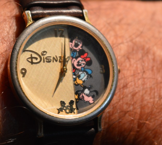 It's almost time to turn back the hands of my Disney watch, this weekend. (Photo by Joe Barkovich)