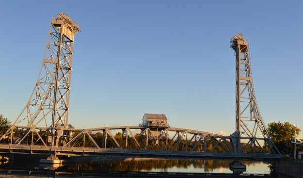 Welland's Main Street Bridge as photographed this morning  from the Division Street bridge. (Photo by Joe Barkovich)