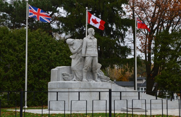 The Welland-Crowland War Memorial in Chippawa Park as photographed Nov. 8.