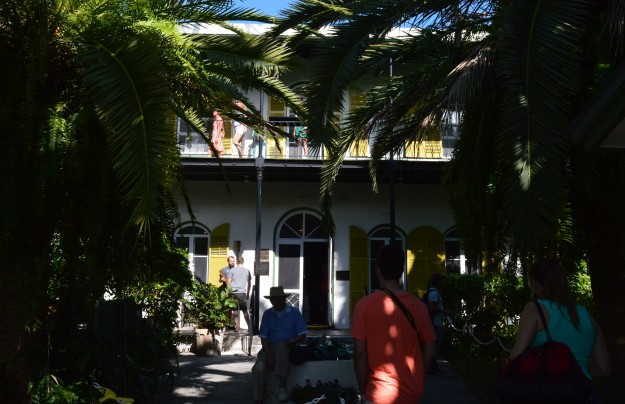 First stop was Key West, Florida, an amazing place to visit. Shown is part of Ernest Hemingway's house from back in the years he lived on Key West - it's a very popular spot for tourists. The interior is breathtaking and the grounds are spectacular!