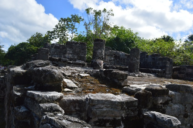 "Another stop was at Cozumel, the island and city off the eastern coast of Mexico. Among activities offered  were opportunities to visit ancient Mayan ruins, above, and soak up the sun at a popular beach, below. The Mayans gave the island its name - it means the ""Island of the Swallows""."