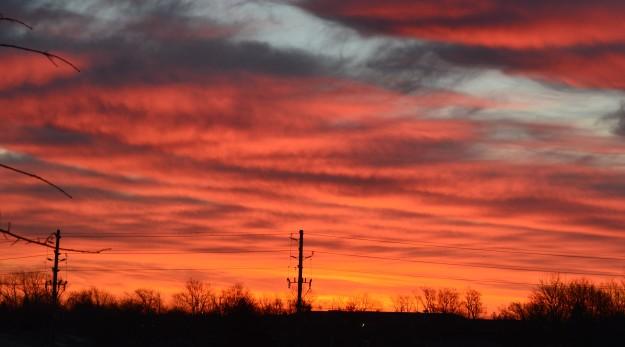 Sunrise sky this morning. (photos by Joe Barkovich)