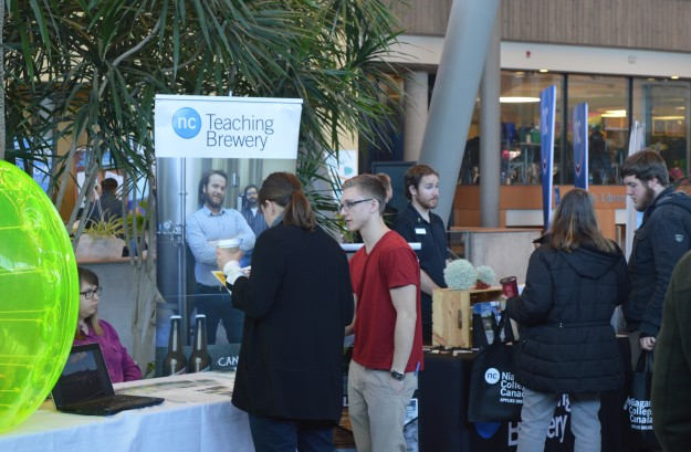 The teaching winery and teaching brewery exhibits were popular with visitors.