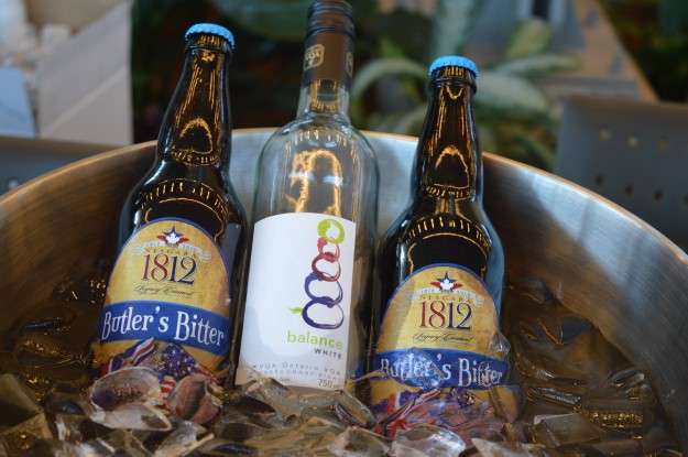 Wine and beer from the college's teaching winery and teaching brewery, both at the Niagara-on-the-Lake campus were shown off and available for sampling.