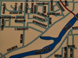Colbeck Drive on local map. Note: Graphic does not show Colbeck Drive in its entirety.