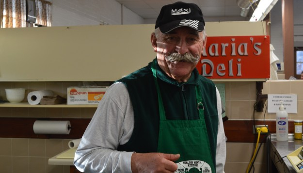 Safe to say his warm and inviting  personality helps Reinhold from Maria's Deli bring in customers. He's a treat to listen to. (All photos by Joe Barkovich)