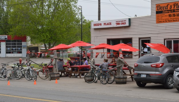 The influx of weekend visitors meant brisk business for this popular Dain City bar and eatery.