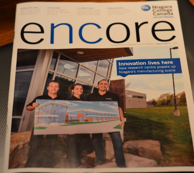 "The Walker Advanced Manufacturing Innovation Centre at Niagara College's Welland campus is taking shape. It's the subject of the cover story in the college's magazine, 'encore'. The following excerpt provides info on what the new centre is all about: ""The facility will offer 15,000 square-feet for innovation. The ground floor will include specialized labs with 3D printers, scanners, and other equipment along with office space for student and staff scientists and researchers. It will also offer flexible lab space that can be used by industry partners as incubation space. ""The top floor will house Niagara College Research and Innovation offices and space for ncTakeOff – the College's entrepreneurship hub. Research and Innovation's digital media and web solutions group will also be on the second floor, along with meeting and conference space."" (Photos by Joe Barkovich)"