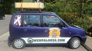 The car being sponsored in the rally. (Supplied photo)