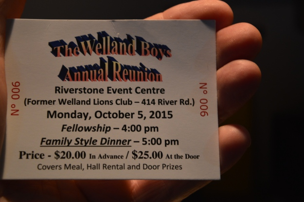 The Welland Boys Reunion is a hot ticket here in the Rose City. The annual event takes place Monday, Oct. 5 at Riverstone Event Centre, River Road. Tickets are on sale at the  Lifestyle Wealth offices in Welland and Port Colborne and Sobeys in Fonthill. (Photo by Joe Barkovich)