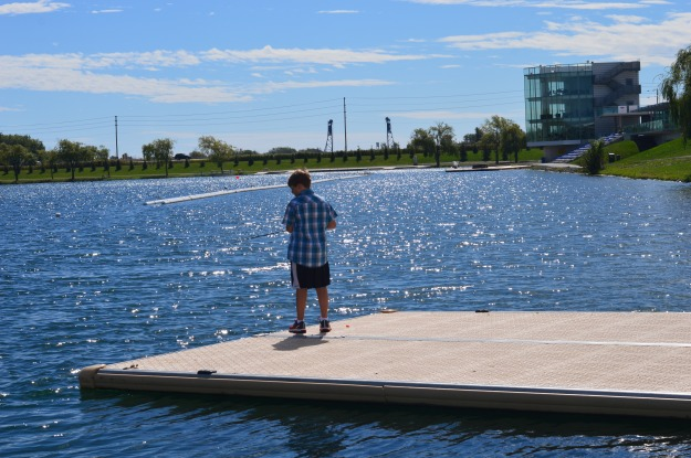 It wasn't his lucky day, the young angler said, not having a single catch on the recreational waterway near the Welland International Flatwater Centre site. The water, though, was glistening and the sky a pretty pastel blue. (Photo by Joe Barkovich)