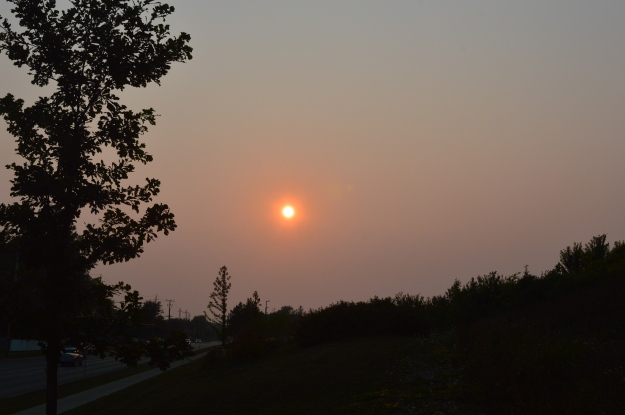 A hot sunset, Tuesday evening, caps off a blistering hot day in Welland. (Photo by Joe Barkovich)