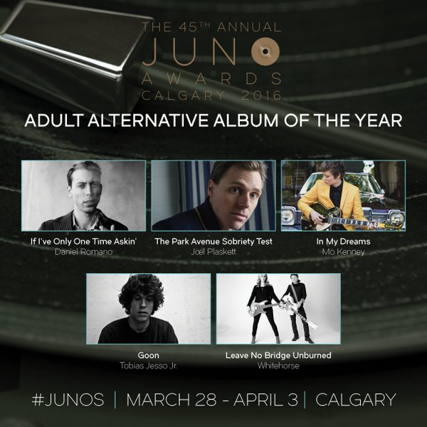 Wellander Daniel Romano is up for an award at the Juno ceremonies. (Supplied graphic)