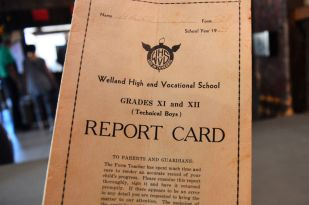Mr. Hajdu's 1939 report card. Info on the front said he was in Form T-3-B.