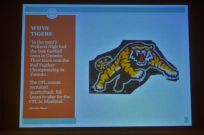 Tribute to Senior Tigers football teams in the 1950s. Notice reference to Tiger great Ed Learn.