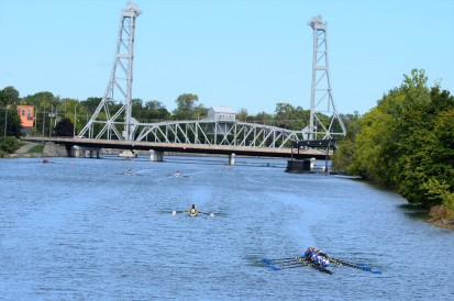 The visually-rich Five Bridges Fall Classic is a joy to watch from many vantage points along the course. (File photos/Joe Barkovich)