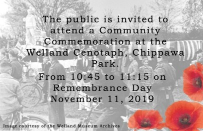 Details about today's service at the Welland-Crowland War Memorial, Chippawa Park.
