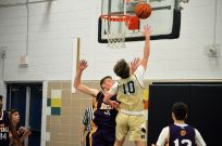 David Jones goes up for a shot during Tip-Off tourney action Friday afternoon at ND's Dillon Hall.
