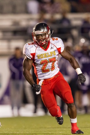 Johnny Augustine during university football days. (University of Guelph photo courtesy Marnie Welch-Swayze)
