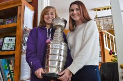 Tina, Jaclyn Turner with the Hope Cup in a photo taken to accompany a 2019 interview.