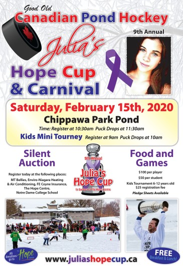 Poster promoting 2020 Julia's Hope Cup and Carnival.